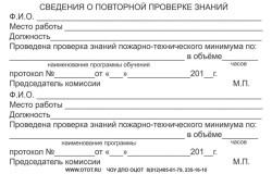 удостоверение по ПТМ, форма